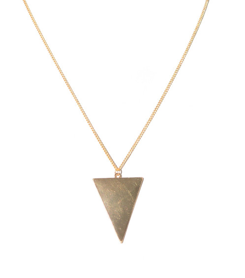 dagger necklaces gold albeit white necklace pendant jewelry triangle