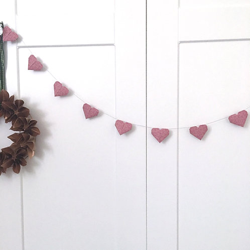 Origami Mini Heart Garland