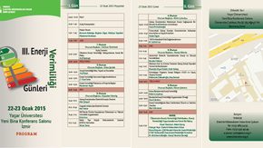 III.Enerji Verimliliği Günleri 22-23 Ocak 2015 İzmir