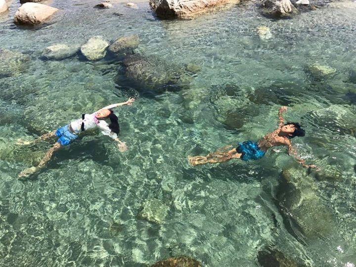 海もいいけど_夏はやっぱりこれかな(´∀`)_近くにこれだけ綺麗な川があることが嬉しいです。_自分の子供の頃を思い出す