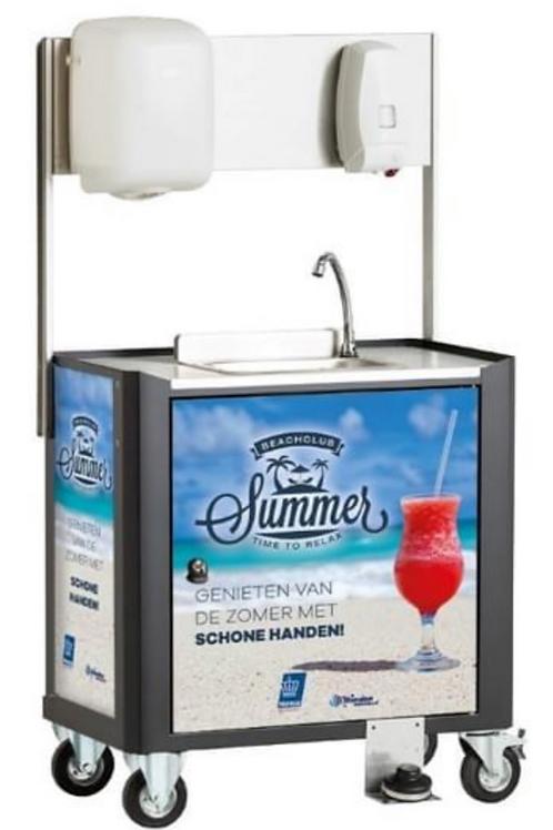Mobiele handwas-unit in uw logo