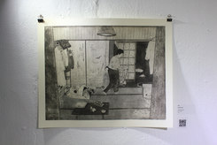 교림, <부서지기 전>, 하네뮬레 종이에 에칭, 645×500mm, 2019