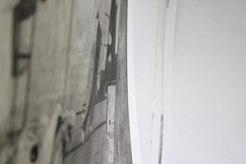 교림, <부서지기 전> 측면, 하네뮬레 종이에 에칭, 645×500mm, 2019