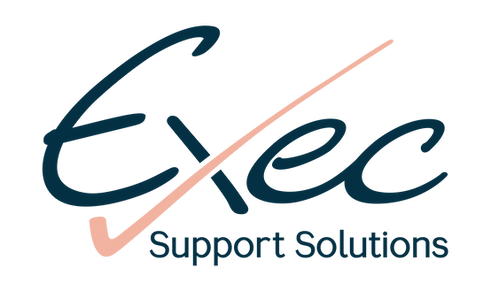 Exec Support Solutions logo blue and peach