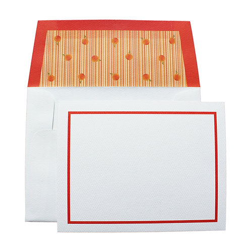 Small Striped Notecard & Envelope 10 Pack