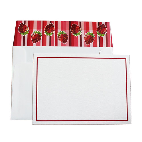 Large Striped Notecard & Envelope 10 Pack