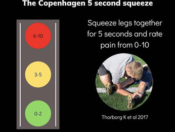 Adductor Squeeze Test for Groin Injury