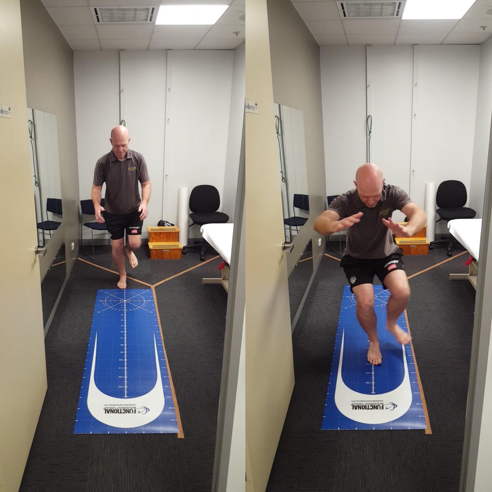 Return to Sport Testing: Single Leg Hop Test.   Mick