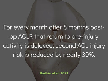 Reducing 2nd ACL Injury Risk