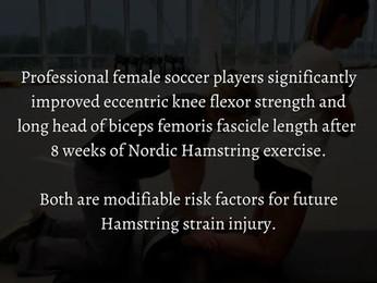 Nordic Hamstring Exercise in Females