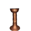 Rose Gold Ceramic Taper Candle Holder