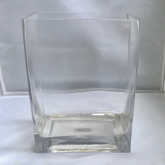 Rectangular Shaped Glass Vase