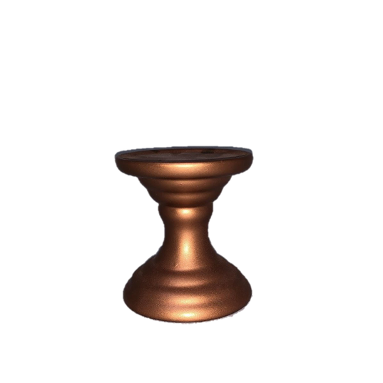 Rose Gold Painted Taper Candle Holder