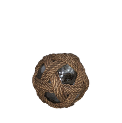 Glass Orb with Thick Rope Detail - Gazing Ball