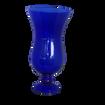 Cobalt Blue Glass Vase with Pedastal Base and Hurricane Type Swell - Medium