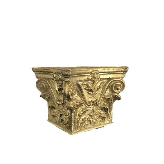 Gold Corinthian Column Capital Container Plaster