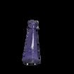 Purple Glass Bud Vase Bottle with Wide Base at Bottom