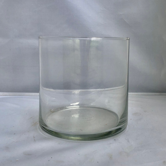Short Glass Cylinder