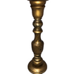 Gold Wooden Pillar Candlestick
