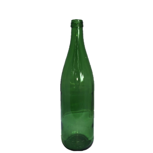 Green Glass Bottle Vase