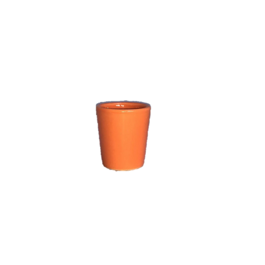 Orange Ceramic Votive Holder
