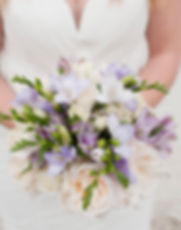 Lovely Lavenders bridal bouquet