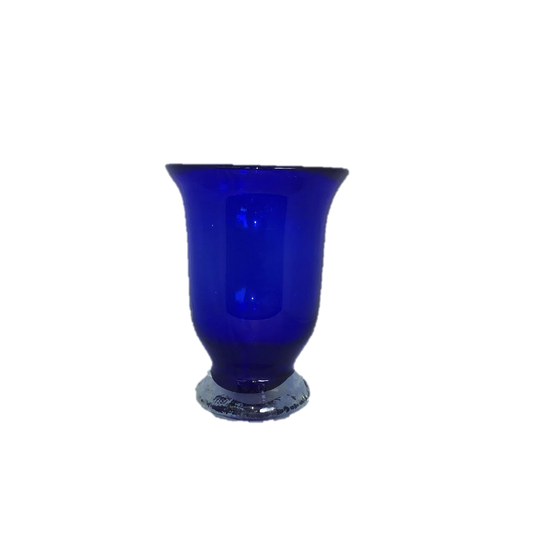 Cobalt Blue Medium Hurricane Glass Vase