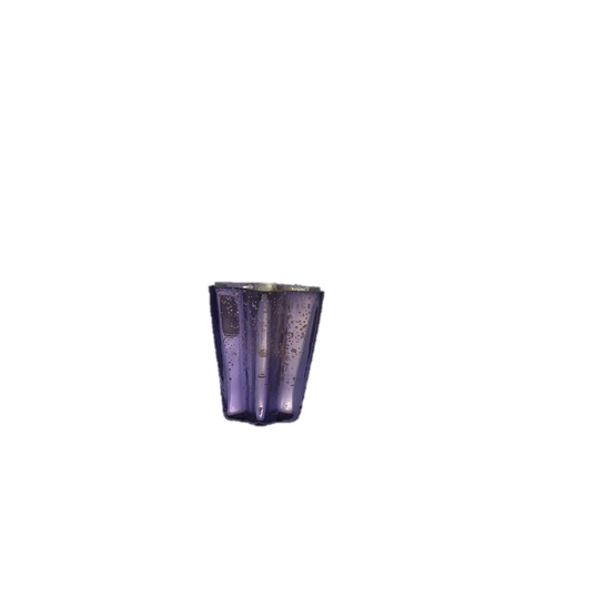 Star Cut Purple Mercury Glass Votive Holder