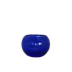Cobalt Blue Glass Rounded Container