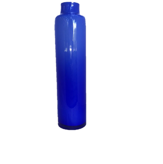 Cobalt Blue Tall Glass Vase