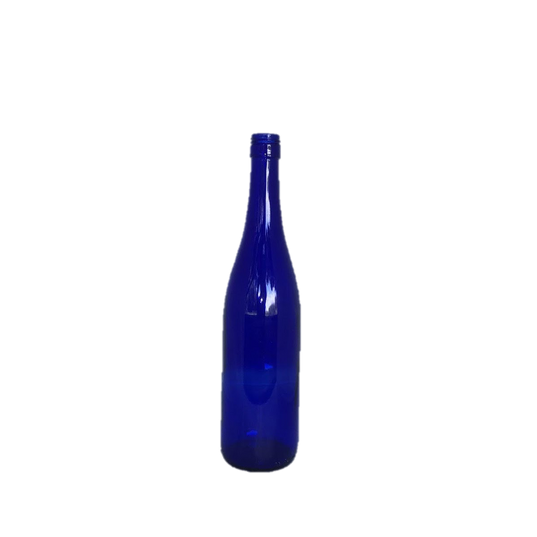 Cobalt Blue Glass Wine Bottle