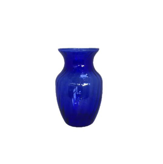 Cobalt Blue Glass Tulip Vase