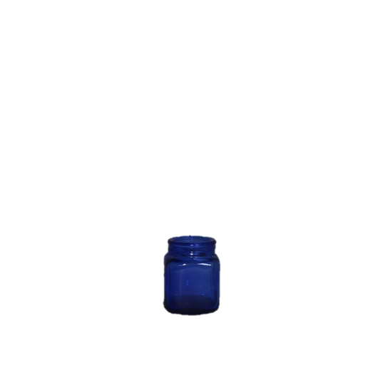 Cobalt Blue Glass Medicine Jar Vessel