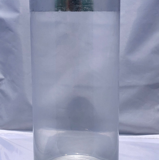 Glass Cylinder with Polished Silver Top Finish