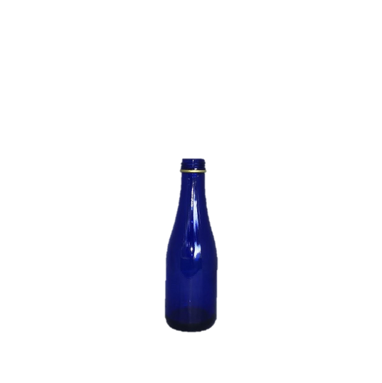 Cobalt Blue Glass Small Wine Bottle