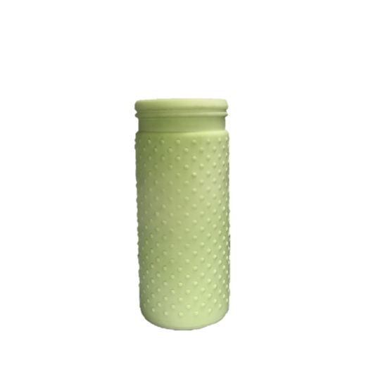 Mint Green Hob Nail Ceramic Vase