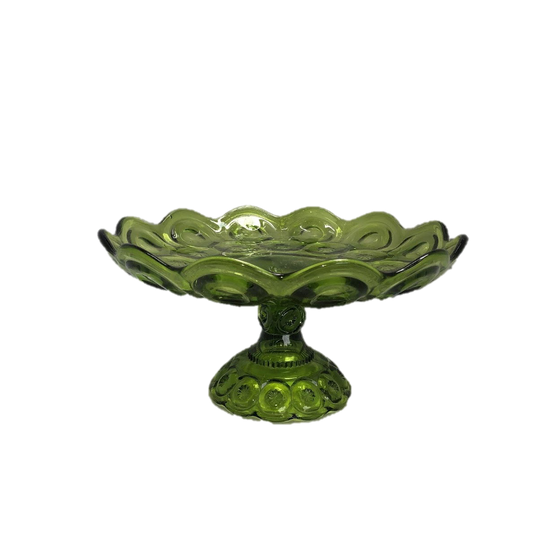 Green Depression Glass Cake Pedastal