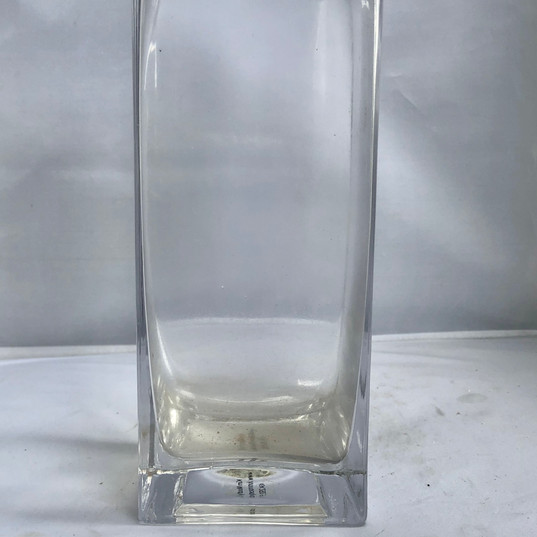 Square Rectangular Shaped Glass Vase
