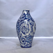 Chinoiserie Medium Traditional Ceramic with Blue Design Vase with Small Mouth