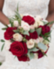 Wine and champagne bridal bouquet