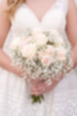 Blush and babies breath bridal bouquet