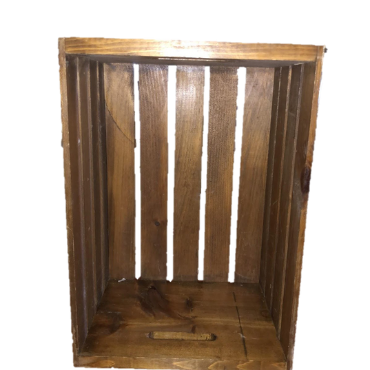 Dark Stained Wooden Crate