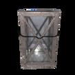 Black Metal Wrought Iron Looking Lantern with Glass Panels
