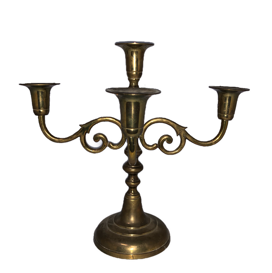 Gold Brass 4 Holder Candelabra