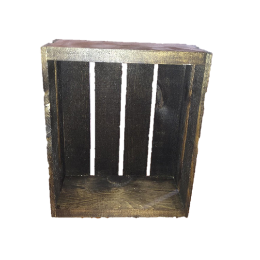 Dark Stained Wooden Small Crate