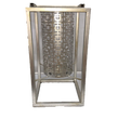 Silver Modern Geometric Cylinder Suspended Modern Lantern with Metal Frame - Large