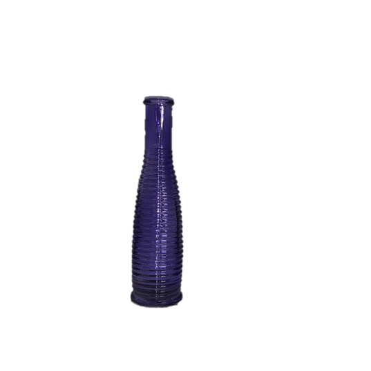Purple Glass Bud Vase with Tall Thin Shape Medium Sized