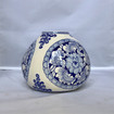 Chinoiserie Short with Large Swell Ceramic with Blue Design Vase