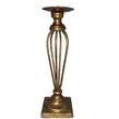 Gold Brass Wire Pillar Candle Holder - Taller