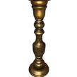 Gold Wooden Pillar Candlestick